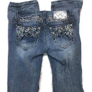 MISS ME Angel wings Signature Boot Cut Jeans